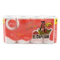 Hartie igienica Don Pedro El Capitan Piersica, celuloza, 3 straturi, alb, 8 role