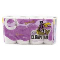 Hartie igienica Don Pedro El Capitan Lavanda, celuloza, 3 straturi, alb, 8 role