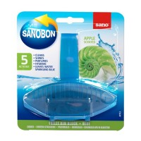 Odorizant wc Sano Bon Blue Apple 5 in 1, solid, parfum mar, 55 g