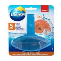 Odorizant wc Sano Bon Blue Peach 5 in 1, solid, parfum piersica, 55 g