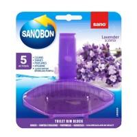 Odorizant wc Sano Bon Blue Lavender 5 in 1, solid, parfum lavanda, 55 g
