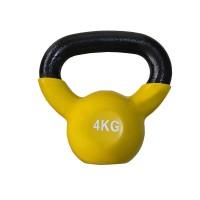 Gantera DHS kettlebell, negru-galben, 4 kg