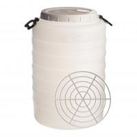 Bidon cu presator, alb, cu capac, 38.6 x 58.5 cm, 60L