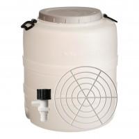 Bidon cu presator si robinet, alb, cu capac, 52 x 73 cm, 120L