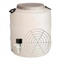 Bidon cu presator si robinet, alb, cu capac, 60 x 73 cm, 160L