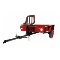 Remorca pentru motosapa Bronto, cu scaun reglabil, 275 x 135 x 100 cm, 400 kg