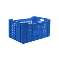Naveta Plastor Util 22129, albastra, cu pereti perforati, 60 x 40 x 30 cm, 62L