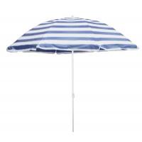Umbrela soare pentru terasa WH002-2 rotunda structura metal albastru D 180 cm-8-19/22