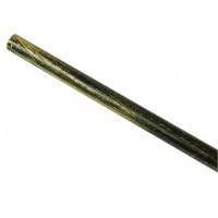 Bara galerie, fier forjat, 16 mm, 300 cm, negru auriu