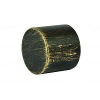 Cap galerie Endcap, 20 mm, negru auriu
