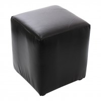 Taburet Cube tip cub, fix, patrat, imitatie piele diverse culori, 38 x 38 x 45 cm