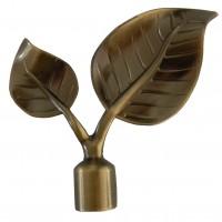 Cap galerie frunza, 19 mm, auriu antic