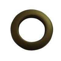 Inel galerie tip capsa, PVC, auriu mat, 28 x 35.5 x 55 mm, set 10 bucati