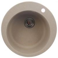 Chiuveta bucatarie compozit fragranite Franke ROG 610 1140000601 avena bej rotunda diametru de 51 cm