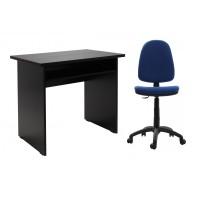 Birou calculator Pitic, magia + scaun birou ergonomic Golf, albastru inchis