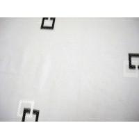 Perdea San 0013/120, poliester, fir de plumb, alb + negru, H 280 cm