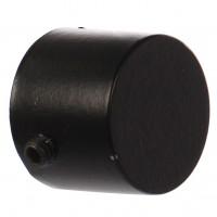 Cap galerie Endcap, 16 mm, negru