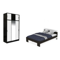 Dormitor Raul, pat + dulap D3, magia + alb, 6C