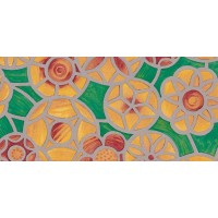 Autocolant vitraliu D-c-Fix 8191-200, flori, multicolor, 0.675 x 15 m