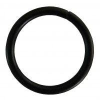 Inel galerie, metal, negru, 16 mm, 10 buc / set