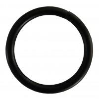 Inel galerie, metal, negru, 19 mm, 10 buc / set