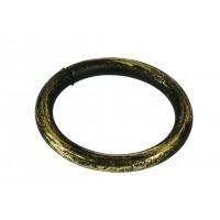 Inel galerie, fier forjat, negru auriu, 20 mm