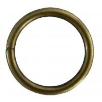 Inel galerie, metal, auriu antic, 19 mm, 10 buc / set