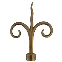 Cap galerie, copac, 20 mm, auriu antic