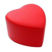 Taburet fix inima, imitatie piele diverse culori, 43 x 45 x 37 cm