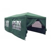 Pavilion gradina, pliabil, patrat cadru metalic + poliester verde 3 x 6 m