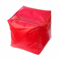 Taburet Puff tip cub, fix, patrat, imitatie piele diverse culori, 40 x 40 x 40 cm