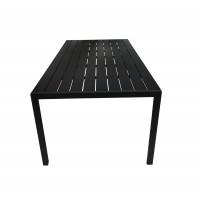 Masa fixa pentru gradina WS1826, metal + plastic, dreptunghiulara, 10 persoane, 200 x 100 x 74 cm