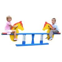 Balansoar copii, calut cu arc, structura metalica, exterior, 210 x 36 x 901 cm