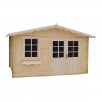 Casuta pentru gradina, cu fereastra, Bicaz, lemn, 394 x 334 cm