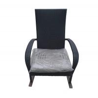 Scaun pentru gradina, balansoar, WS2779, metal + polietilena, negru