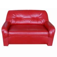 Canapea fixa 2 locuri Malaga, rosie, 90 x 132 x 82 cm 1C