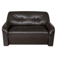 Canapea fixa 2 locuri Malaga, wenge, 90 x 132 x 82 cm 1C