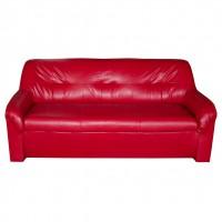 Canapea fixa 3 locuri Malaga, rosie, 90 x 182 x 82 cm 1C