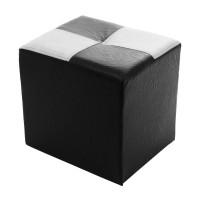Taburet Aldo tip cub, fix, dreptunghiular, stofa si/sau imitatie piele diverse culori, 40 x 30 x 40 cm