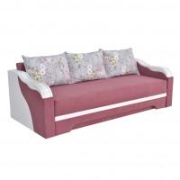 Canapea extensibila 3 locuri Bianca, cu lada + ornament alb, diverse culori, 230 x 106 x 80 cm, 4C