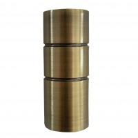 Cap galerie Briliant, tub, 19 mm, auriu antic