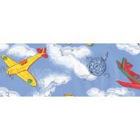 Autocolant pentru camera copii Gekkofix Aeroplane 11693, multicolor, 0.45 x 15 m