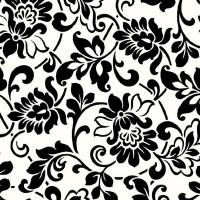 Autocolant decorativ, Gekkofix Heritage 10581, alb + negru, 0.9 m