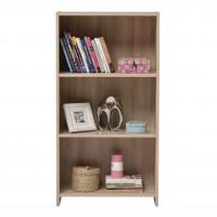 Etajera birou Buki, 3 rafturi, stejar sonoma, 57 x 24.5 x 108.5 cm, 1C