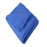 Patura LPR - 003, 125 x 150 cm, poliester, albastru