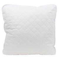 Perna pentru dormit hipo-alergenica fibra poliester siliconizata + microfibra alb 70 x 70 cm