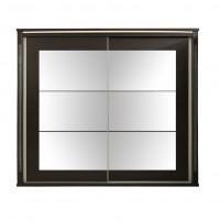 Dulap dormitor Allegro L235, wenge, 2 usi glisante, cu oglinda, 235 x 61.5 x 213 cm, 11C