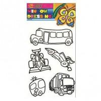 Sticker decorativ, pentru geam, camera copii, Mijloace de transport