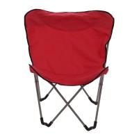 Scaun camping pliant Fluture 360.080 structura metalica roz 80 x 60 x 91 cm