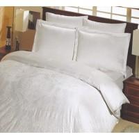 Lenjerie de pat, 2 persoane, Deluxe Altinbasak Scarlet, bumbac 100%, 6 piese, alb